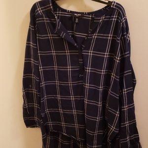 Plaid Nine West blouse